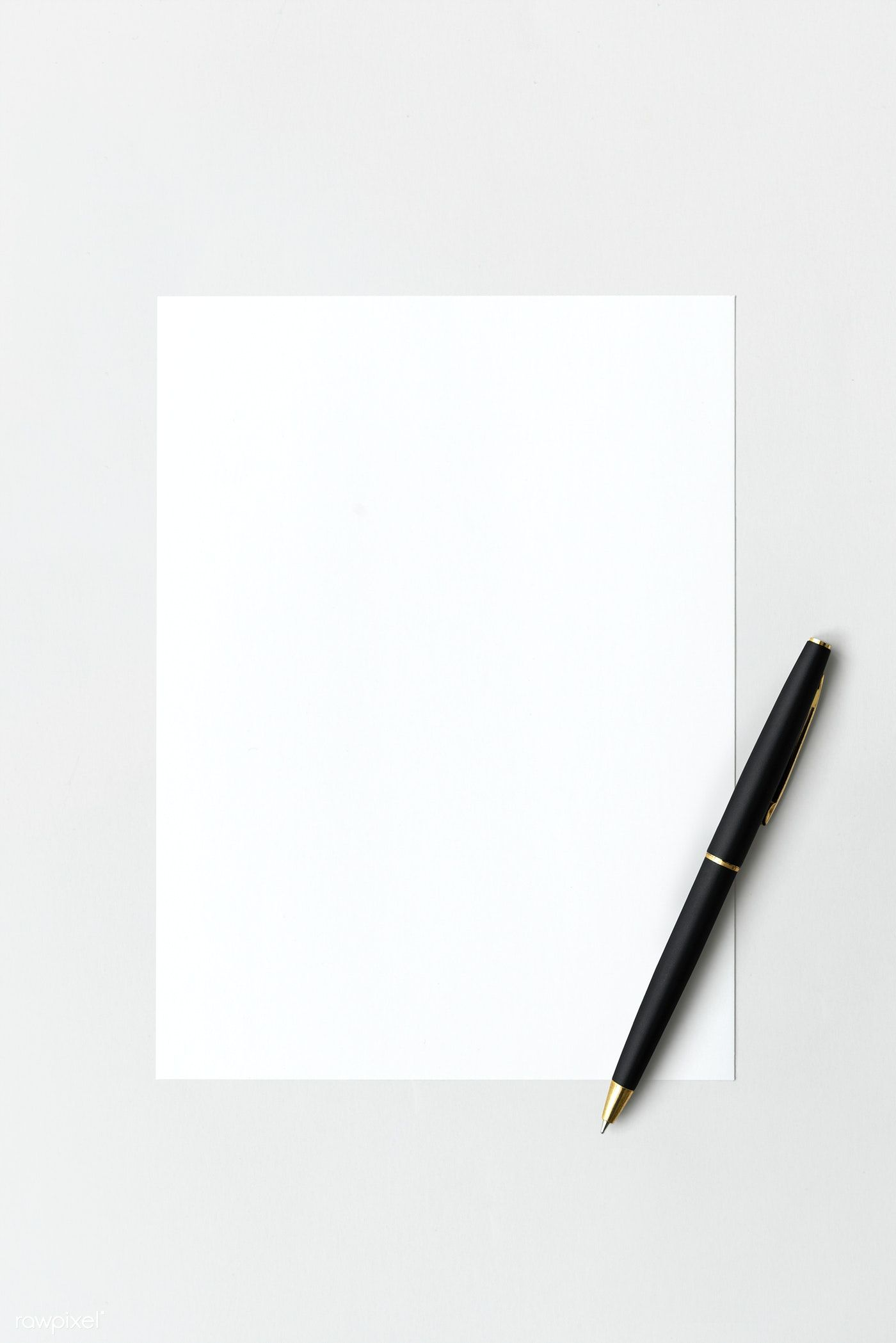Download Premium Psd Of Blank White Paper With Black Pen 1202057 Paper Texture White White Paper Book Background