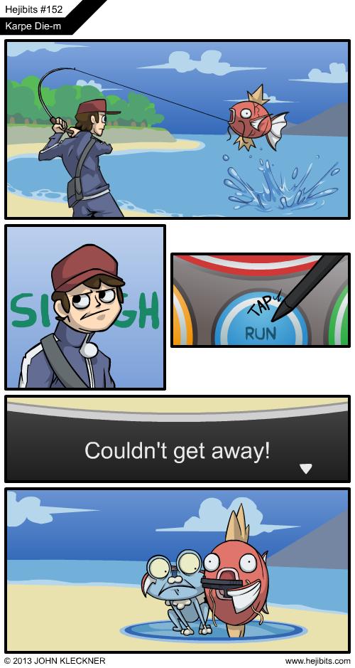 Running Away Meme Anime