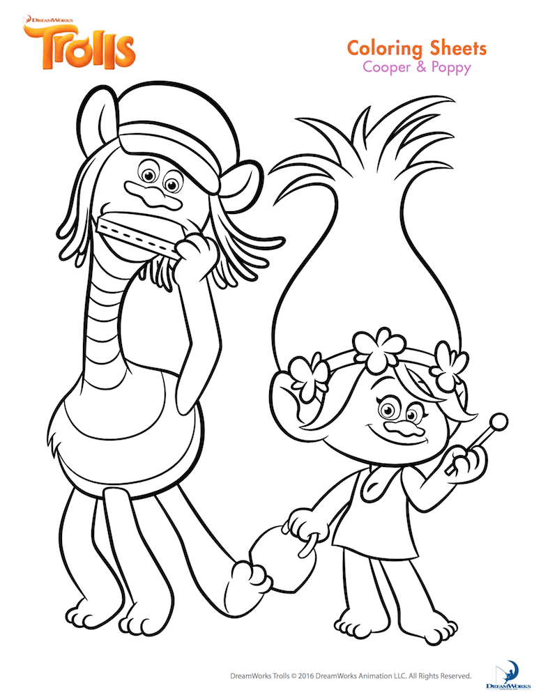 Trolls Party Poppy Coloring Page Disney Coloring Pages Cartoon Coloring Pages