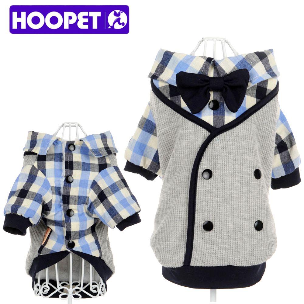 Hoopet pet clothes soft casual plaid shirt gentle dog western shirt