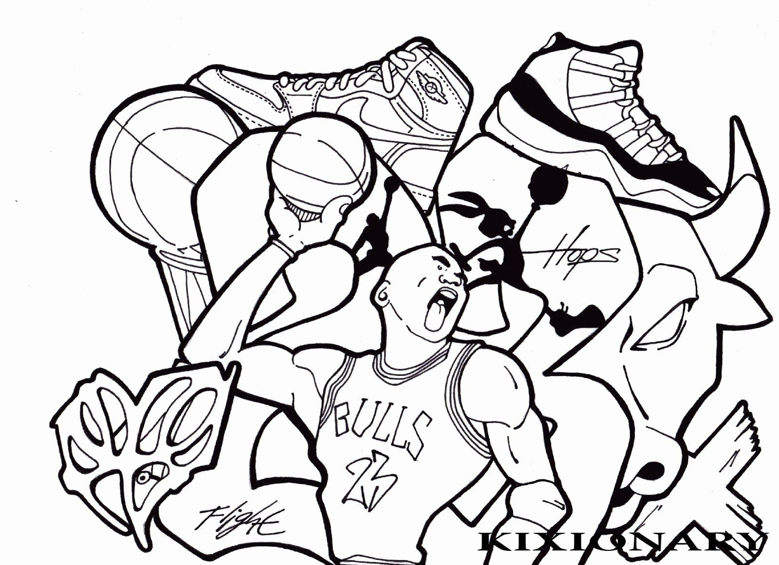 Space Jam Coloring Sheets Lovely Jordan Coloring Pages 5