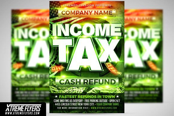 Income Tax Flyer Template By Xtremeflyers On Graphicsauthor