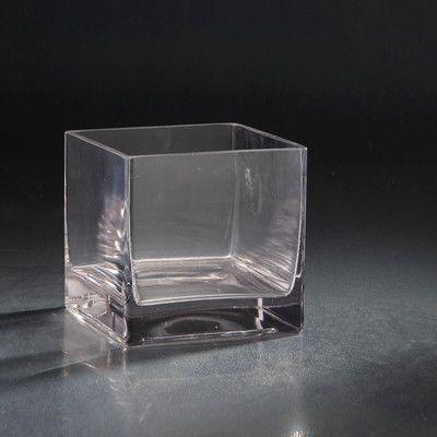 """Diamond Star Glass Glass Votive Size: 6"""" H x 6"""" W x 6"""" D"""
