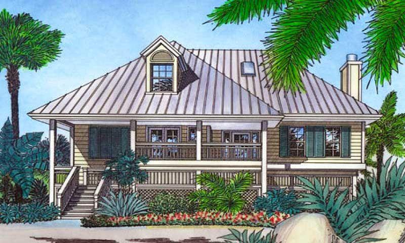 Bermuda Island Style Elevation