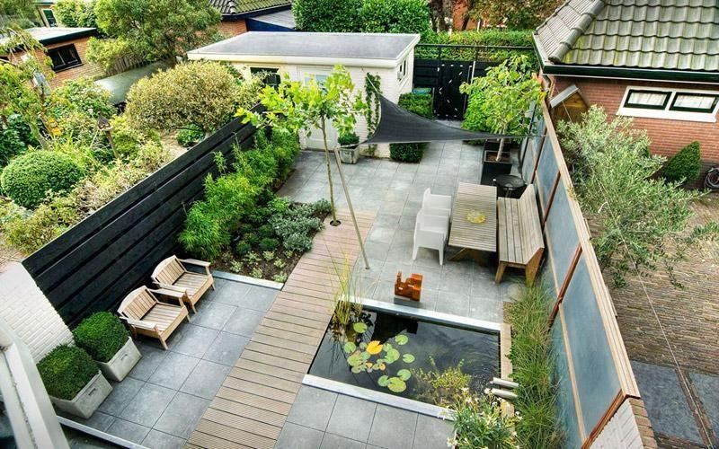 Klassiek moderne tuin green art moderne tuinen tuinontwerp tuinaanleg et dehors - Bassin tuin ontwerp ...