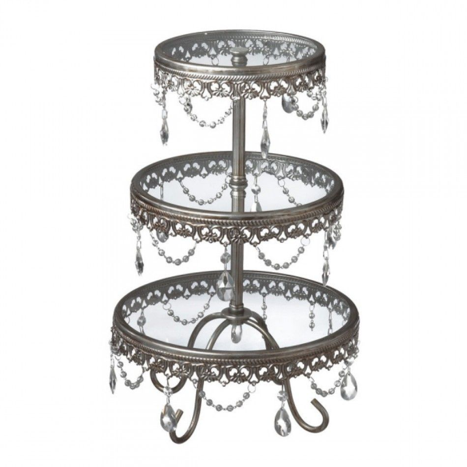 tiered wedding cake stand antique silver three tier cake stand with jewels 225 7995