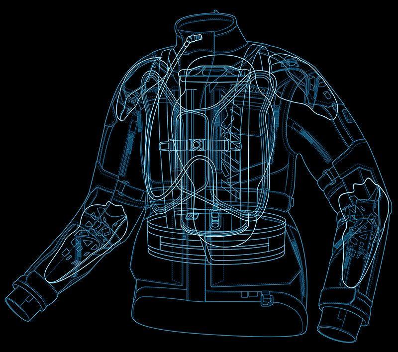 KLIM Adventure Jacket Illustrations - Technical Illustration - Jim Hatch Illustration