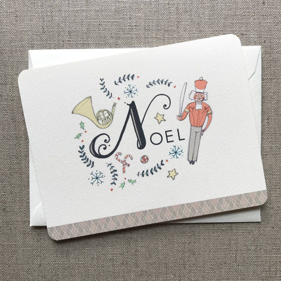 Christmas Greeting Card with Noel -The Nutcracker - Boxed Christmas ...