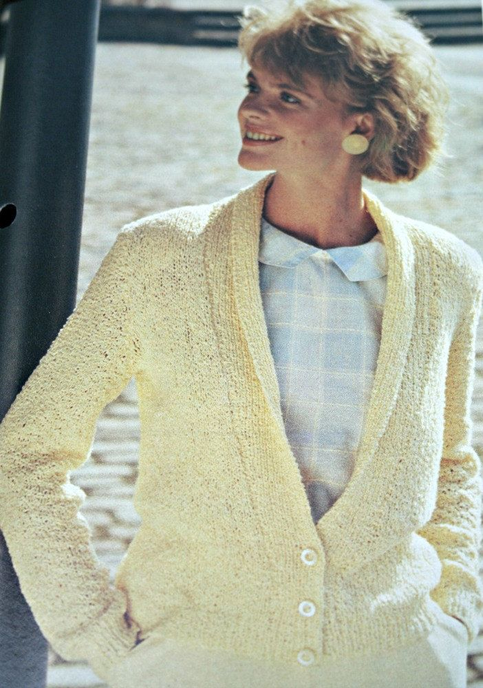 Cardigan Knitting Pattern Women Sizes 32, 34, 36 and 38 Inches ...