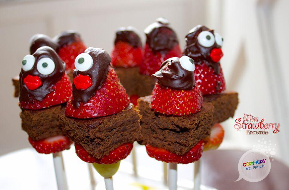 Miss Strawberry Brownie. | Strawberry brownies, Fun kids ...