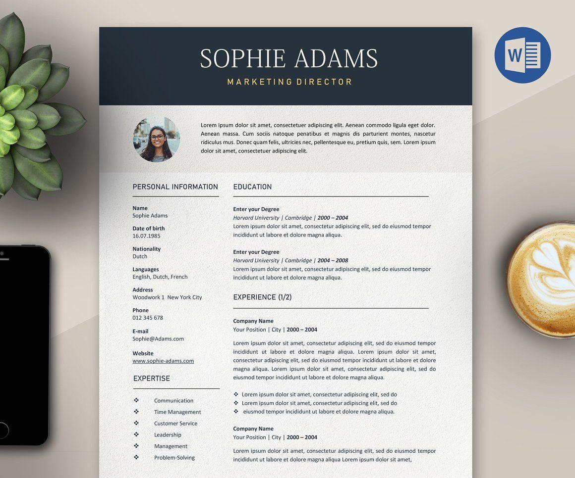 Resume template/CV. A CV Resume for your job application