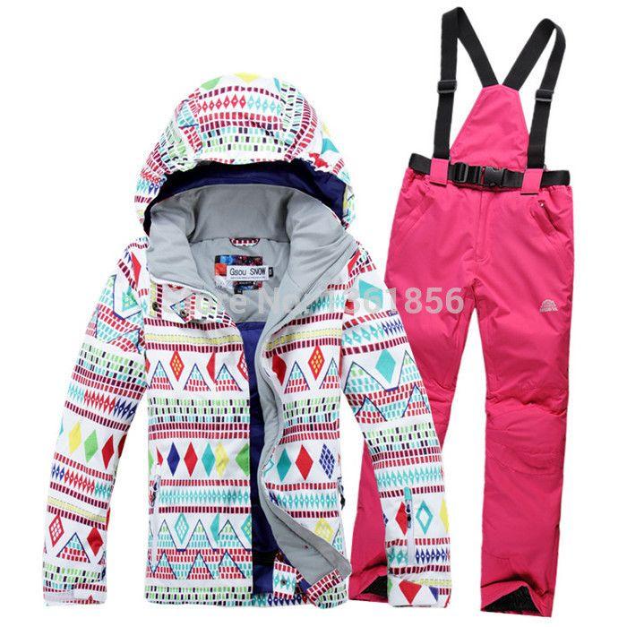 Стиль сноуборд лыжный костюм куртка одежда комплект брюки ветрозащитный водонепроницаемый действительно купить на AliExpress