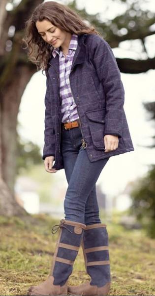 Ladies Long Tweed Jacket Uk Women S Long Tweed Coat In 2020 Long Tweed Jacket Womens Tweed Jacket Country Clothing Uk