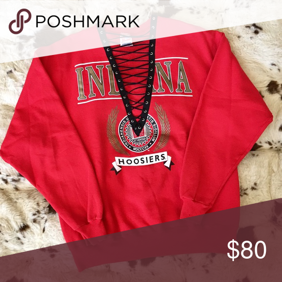 Indiana Sweatshirt Details to come!  BRAND:  MATERIAL:  YEAR/ERA:  LABEL SIZE:  BEST FIT:   MEASUREMENTS: Chest  Length   *Listed as LF for views. *Price firm unless bundled.  🚫 I do not model or trade, sorry! 💟 Check out my closet for more vintage! LF Tops Sweatshirts & Hoodies