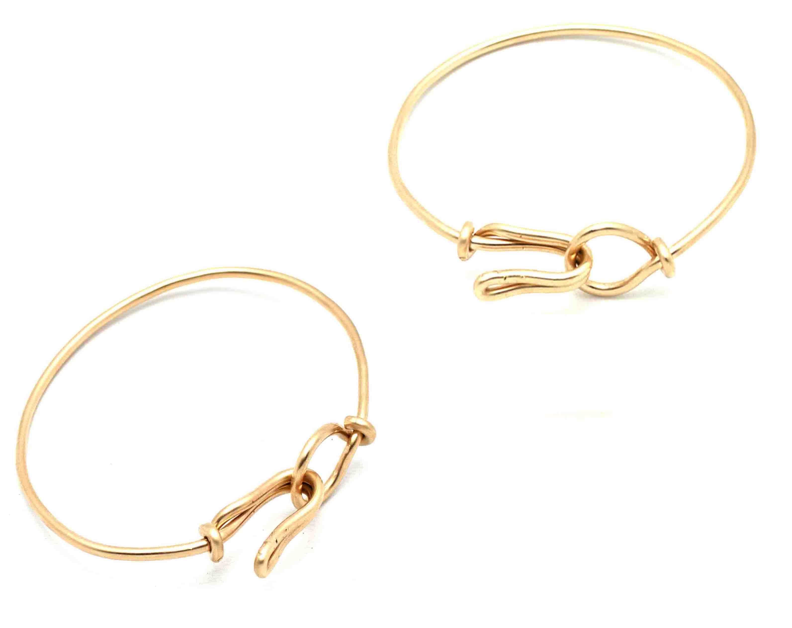 Handmade Gold Filled Wire Wrapped Bracelet. Simple, elegant bangle ...