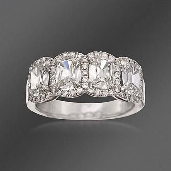 Henri Daussi 2.30 ct. t.w. Diamond 4-Stone Ring in 18kt White Gold
