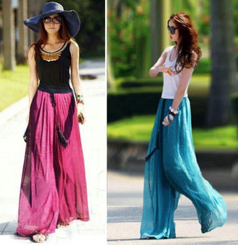 womens wide leg palazzo pants | aqua & raspberry addicted