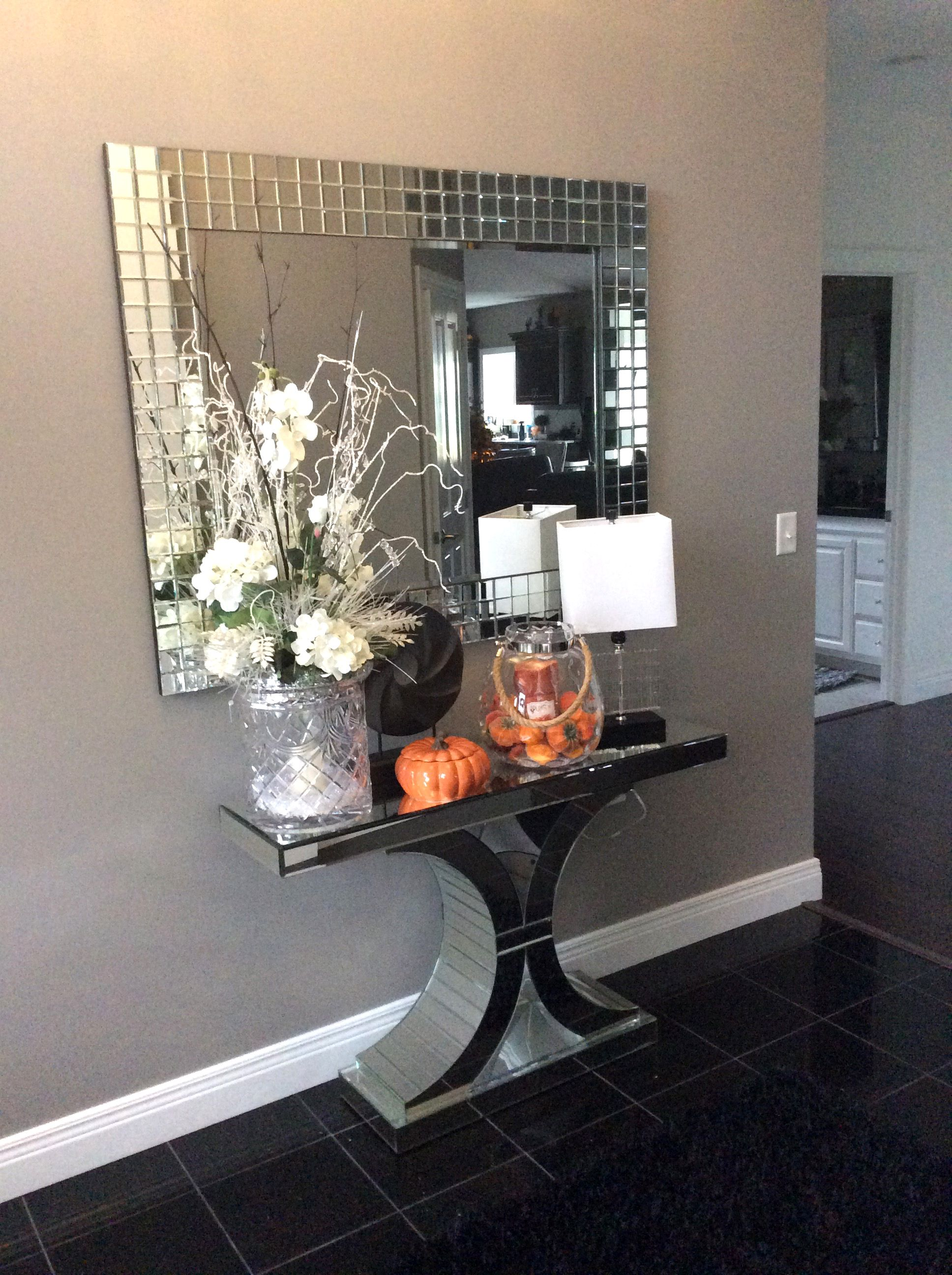 Great photo of our michael mirror over one of our mirrored console great photo of our michael mirror over one of our mirrored console tables submission by geotapseo Image collections