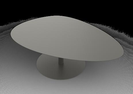 Table Basse Galet Xl 39 4x120x80 Design Luc Jozancy Matiere Grise Disponible Dans 28 Couleurs En Vente Chez Inextoo Labege E Mesas Ratonas Hogar Mesas