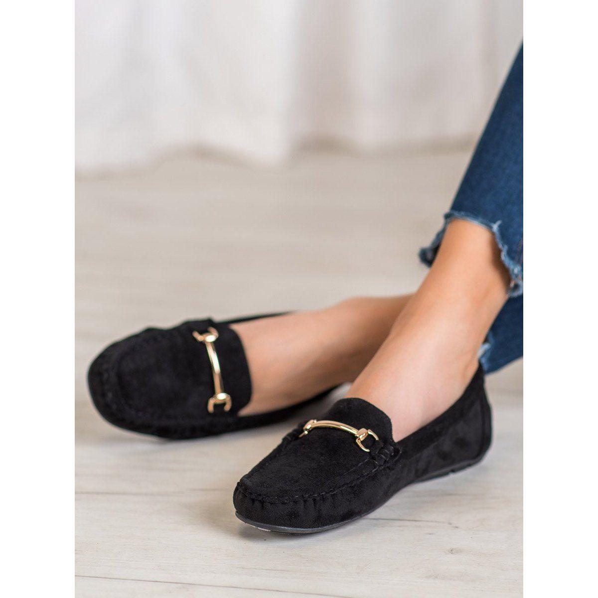 Seastar Stylowe Zamszowe Mokasyny Czarne Gucci Mules Shoes Mule Shoe
