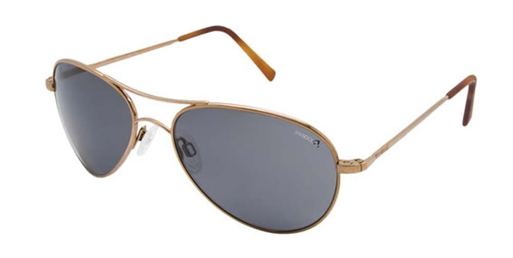 Randolph Women's Amelia AA7C434-PC Polarized Aviator Sunglasses, Chocolate Gold, 57 mm. Case included.