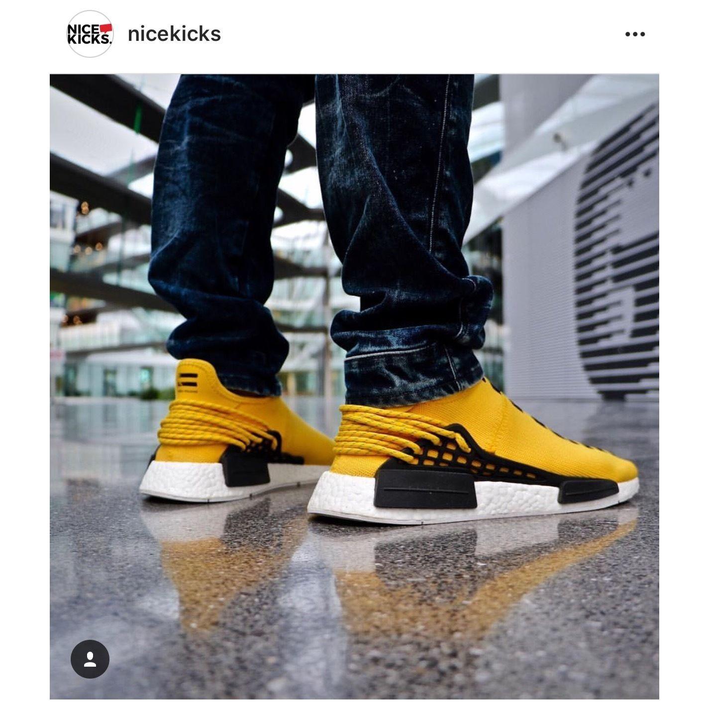 size 40 02c6e 80422 Adidas Pharrell Williams NMD Human Race HU OG Yellow ...
