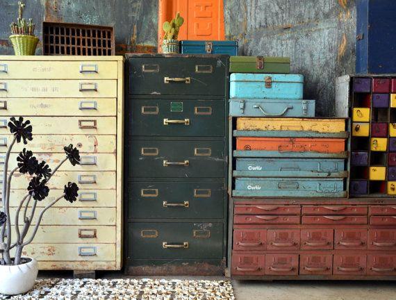Vintage Green Steel Histacount Filing Cabinet Etsy Filing Cabinet Vintage Filing Cabinet Storage Design
