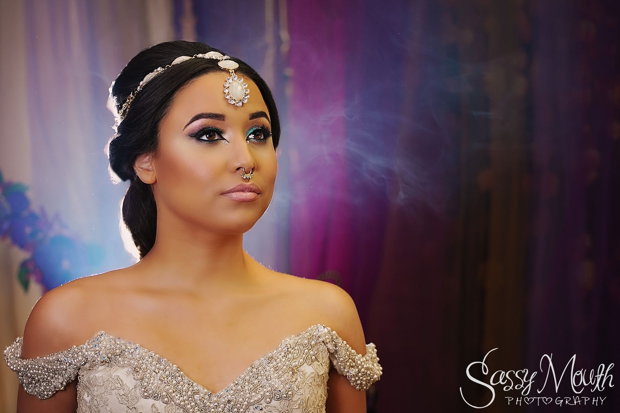 Princess Jasmine Hair And Makeup Bride Aladdin Wedding Sassy Mouth Photography Photo Series