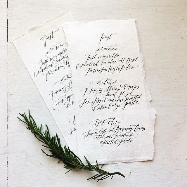 """Simple little menus on handmade paper!"" Photo taken by @wildfieldpaperco on Instagram, pinned via the InstaPin iOS App! http://www.instapinapp.com (06/01/2015)"