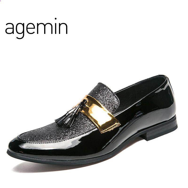 Agemin Wysokiej Jakosci Skorzane Buty Skorzane Bonded Mezczyzni 2018 Oddychajace Mody Meskie Buty Casual Brand Leather Shoes Men Mens Casual Shoes Men S Shoes