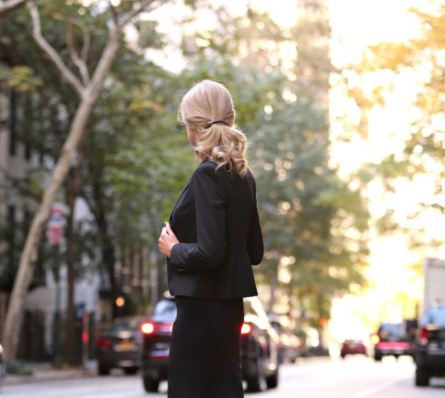 High Quality What To Wear To An Interview Tips Advice Checklist Owning Interview Sleek  Simple Polished Clean Black Suit Ann Taylor Power Piece Fit Shoes Nails  Hair Make ...