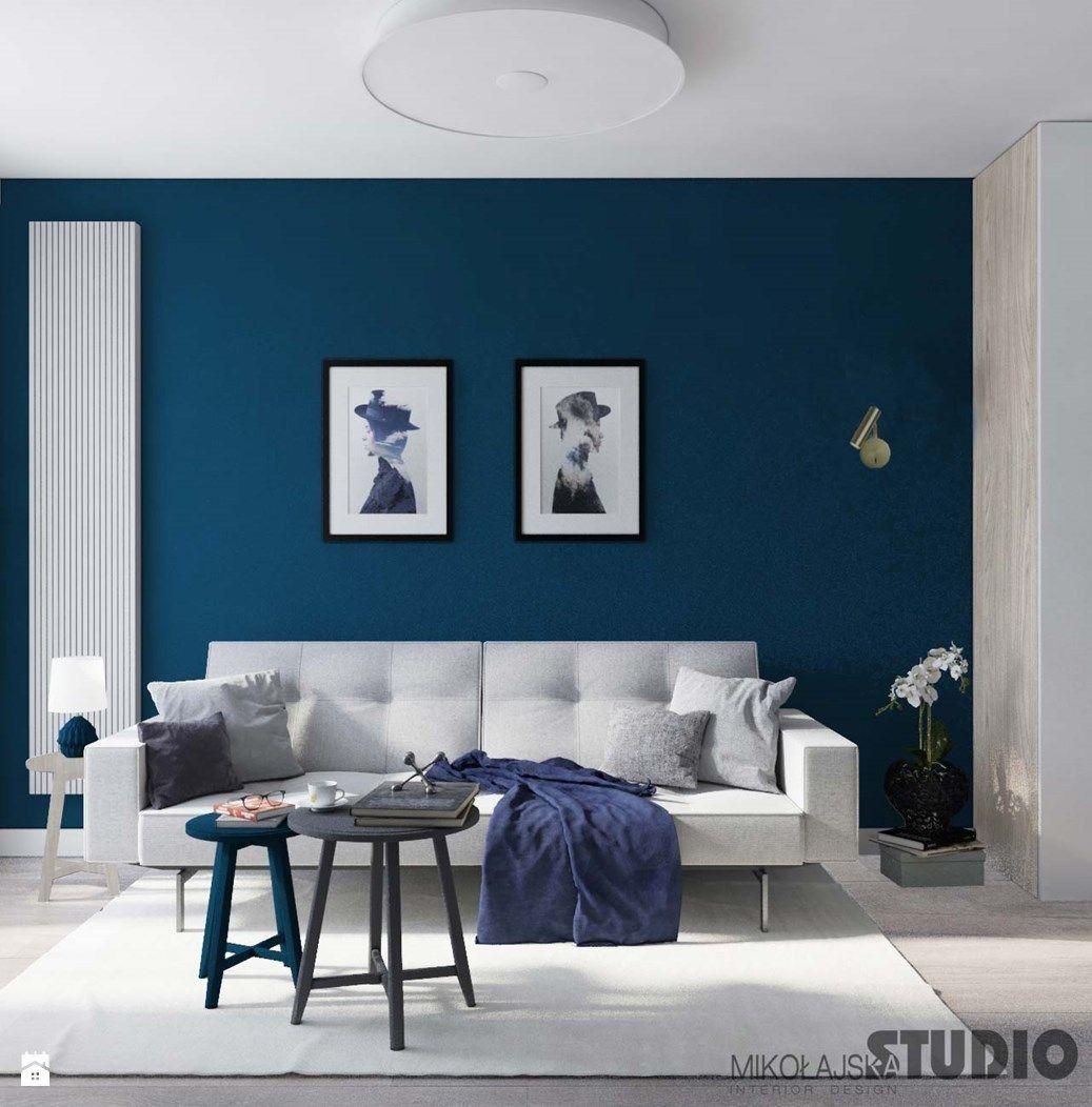Beautiful Living Room Design Blue Walls Blue Living Room Blue