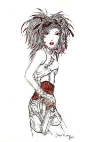 steampunk character drawings - Google Search