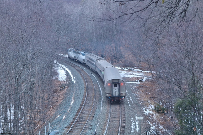 Amtrak 449 in Chester,Mass. in 2020 Railroad photos
