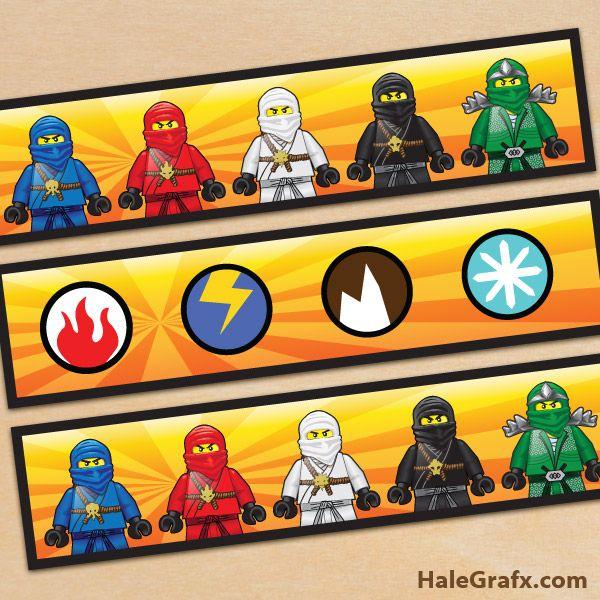 FREE Printable Ninjago Water Bottle Labels   Lego   Pinterest ...