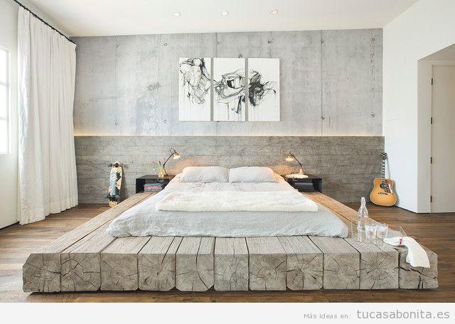 Habitación matrimonio decoración industrial | Camas | Pinterest ...