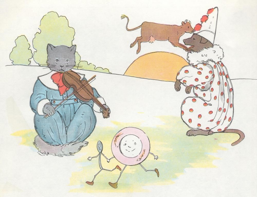 THE CAT AND THE FIDDLE Mother goose, Nursery rhymes, Cats