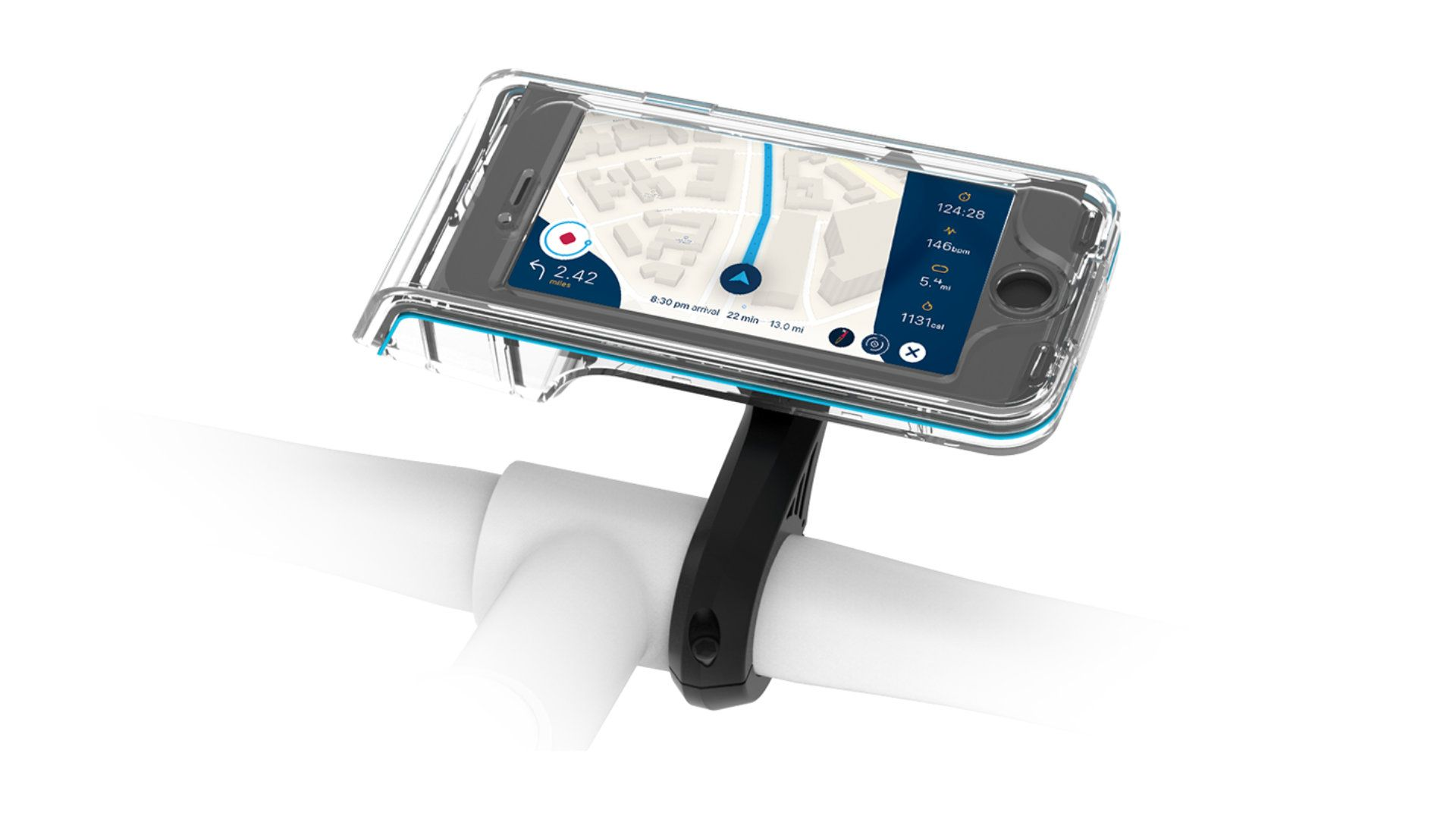 The Bycle smartphone mount utilizes a prism design that allows commuters and cyclists to record rides and share them with others.