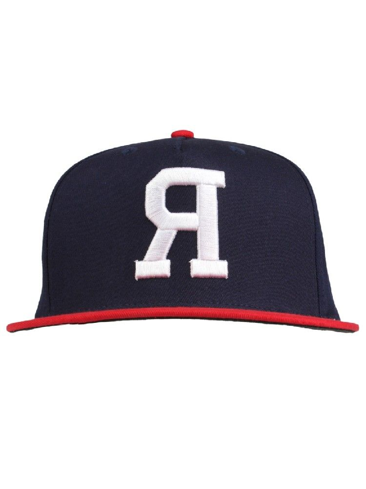 29d6bf48ac0c6 Rook Clothing Big R Snapback Hat - Navy Red  26.00  rook