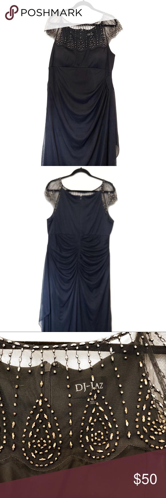 Dj Jaz Black Dress Size 18 Black Dress Size 18 Size 18 Dress Black Mesh Dress [ 1740 x 580 Pixel ]