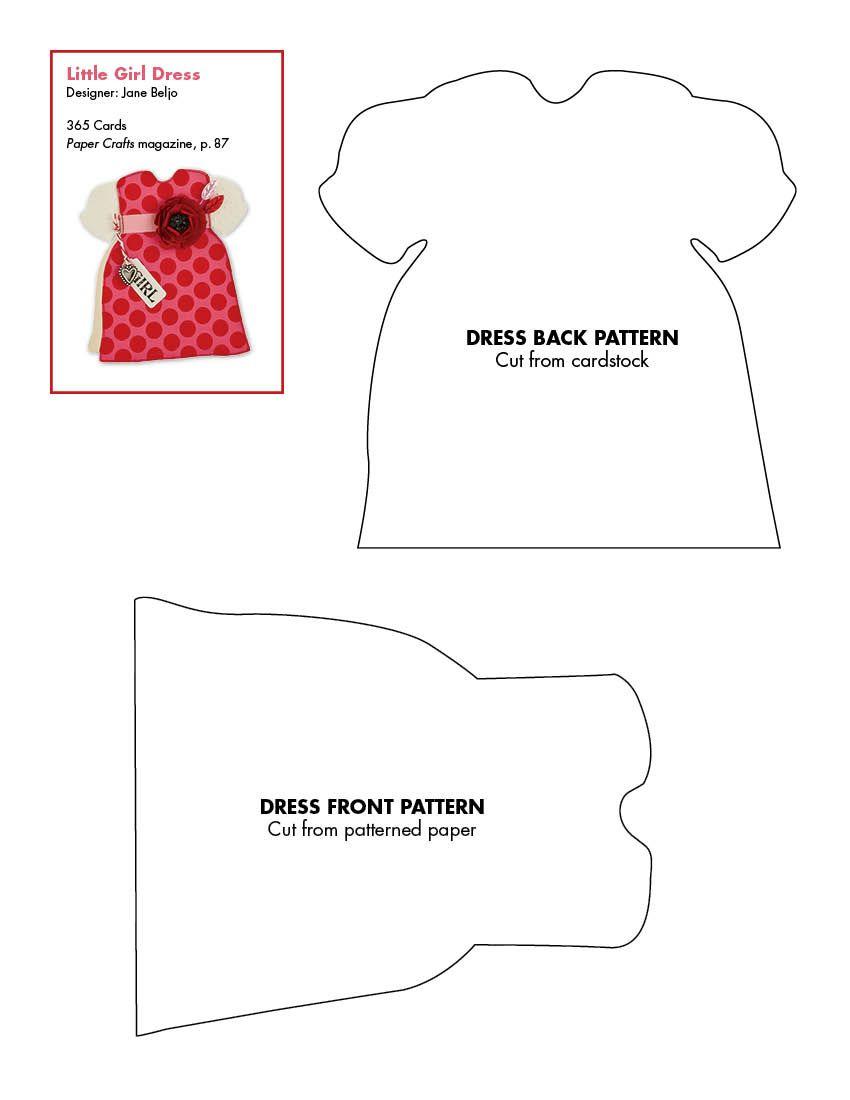 Dress card | Templates | Pinterest | Molde, Tarjetas y Tarta de pañales