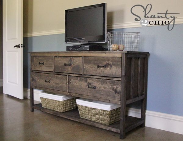 Ana White Build A Wide Cabin Dresser Metal Slides Free And Easy DIY Project  And Furniture Plans