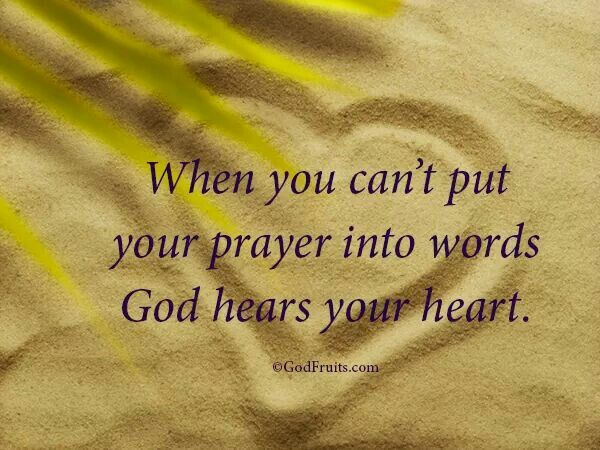 HE can hear me today   LORD JESUS take my unspoken words, I