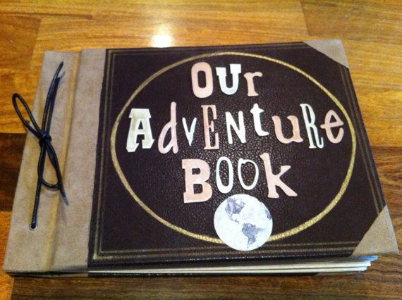 Our Adventure Book As Seen In Up Scrapbook Wedding Album Photo Journal On Etsy 16000