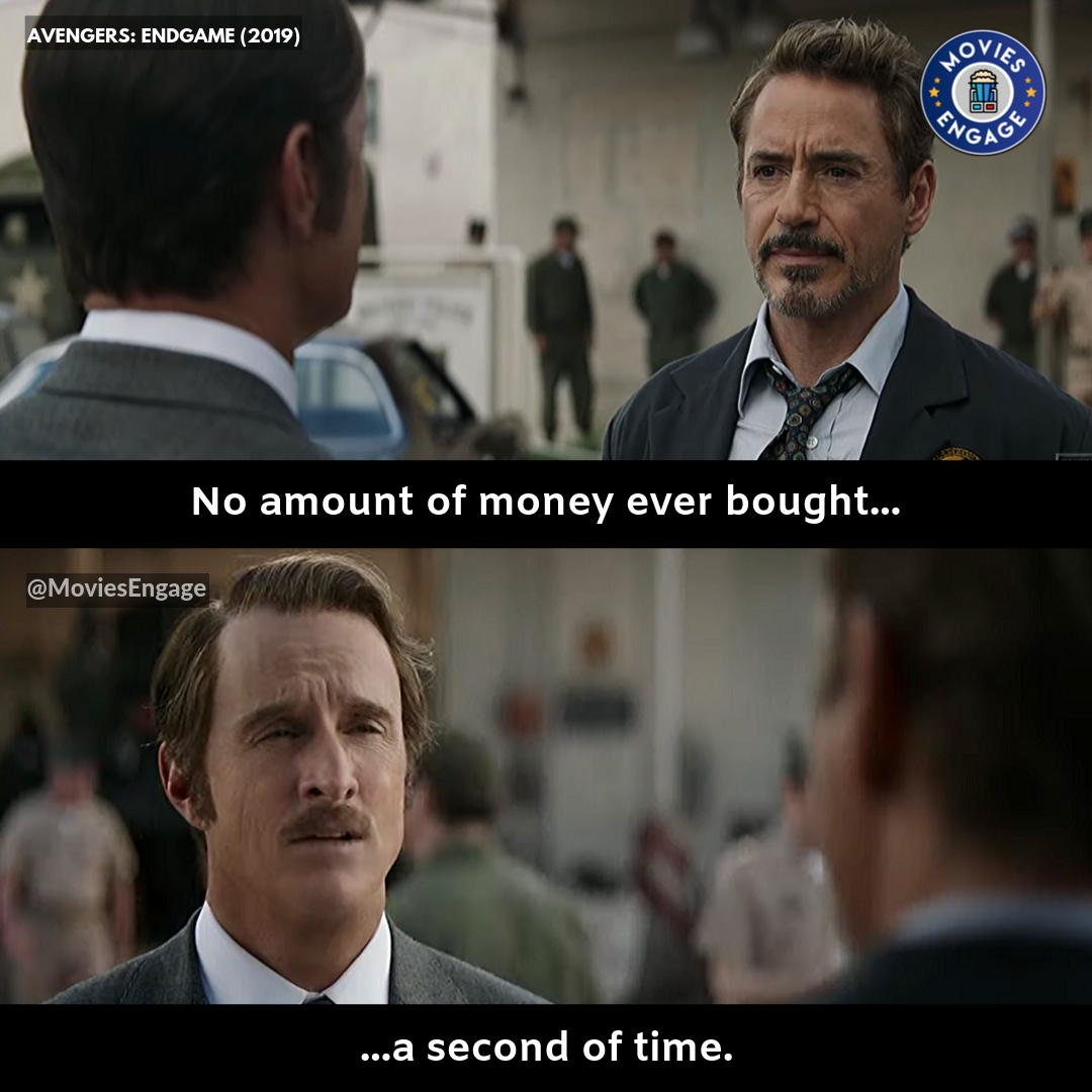 No Amount Of Money Ever Bought A Second Of Time Movies Movie Buff Movie Quotes