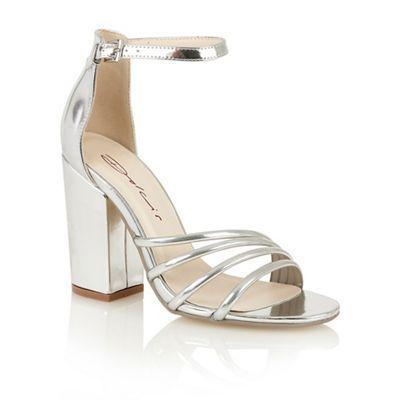35cdca57316 Dolcis Silver  Adeline  high heeled sandals- at Debenhams.com