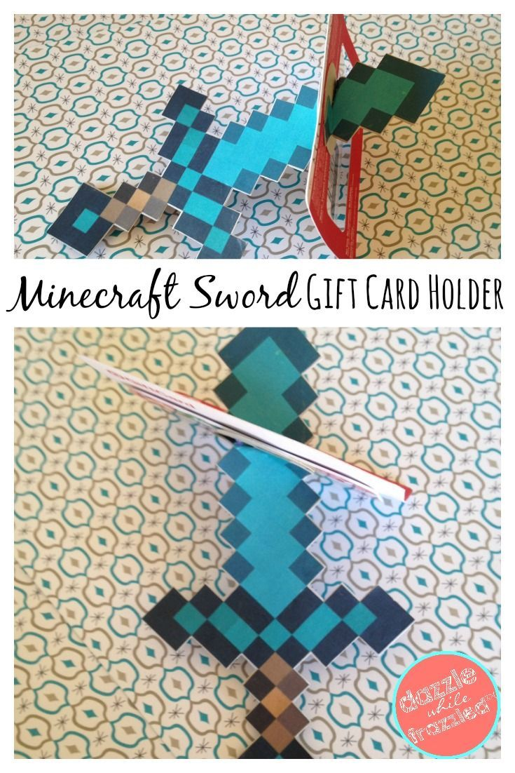 Minecraft Craft Ideas For Kids Part - 32: DIY Minecraft Diamond Sword Birthday Craft