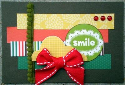 Strips of paper card sample