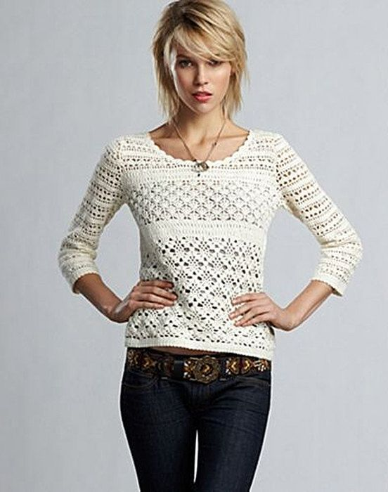 aa14e5d8d8c Crochet designer sweater PATTERN detailed by STYLEcrocheting