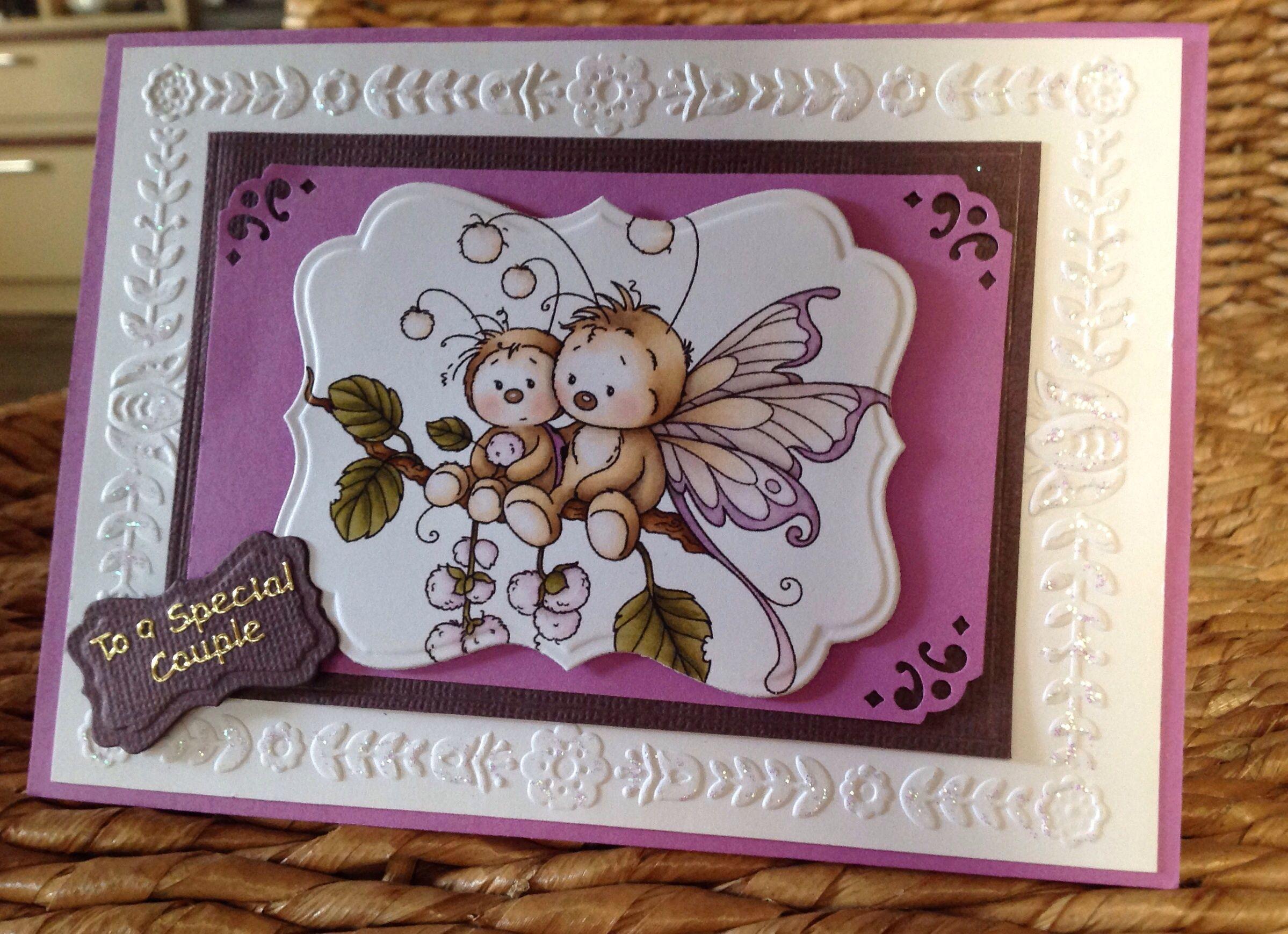 Card Making Ideas Using Embossing Folders Part - 48: Anniversary Card Using Darice Floral Border Embossing Folder